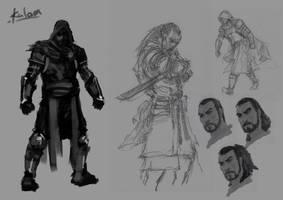 Malazan Charge character Kalam by slaine69
