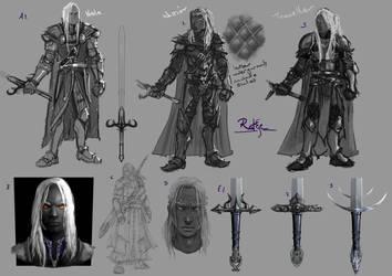 Malazan Charge character Rake by slaine69