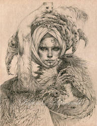 Lady with an Ermine by DalfaArt