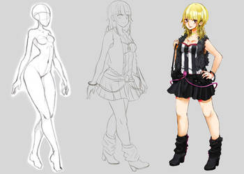Ryuko Blair(UTAU) Sketch by PaopuParfait