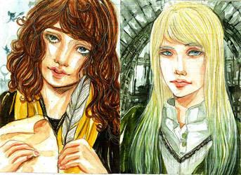 Saffron and Narcissa by arekanderina