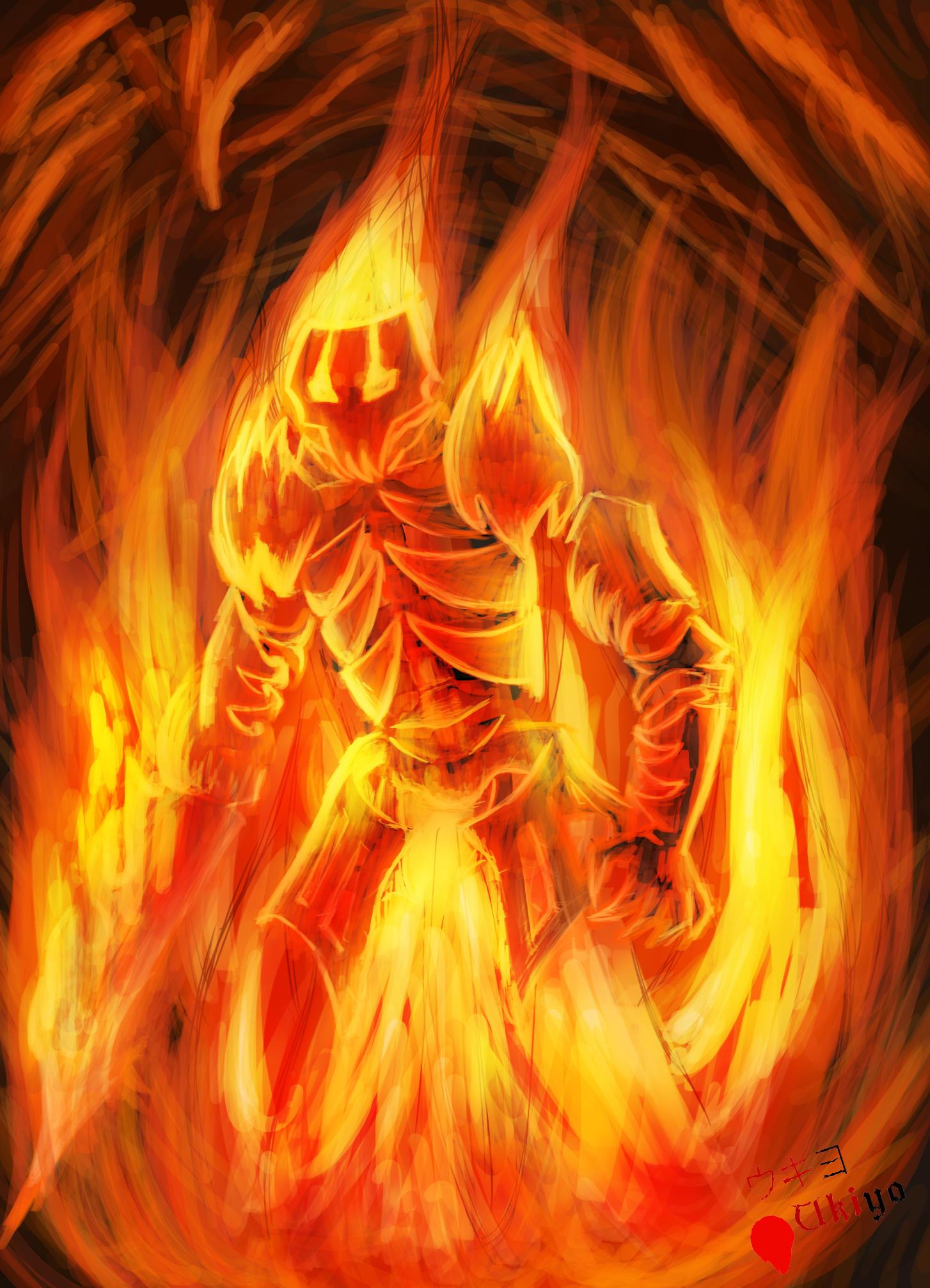 Scenarium - Fire elemental by Ten-Tsuki