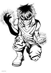 Boku no Hero academia - Bakugou by Ten-Tsuki