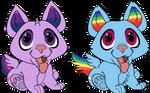 Puppy Twilight Sparkle And Rainbow Dash by AllyCatBlu