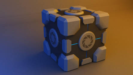 Aperture Science Weighted Storage Cube V2 by alexdarkred