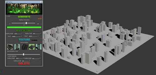 CityGen - City generator tool for 3Ds Max by alexdarkred
