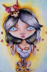 Ana y mariposas by tesdrg