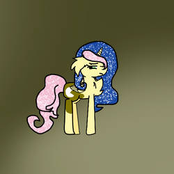 Fluttershy x Luna Thing I haven't named by DarkNightsAwait
