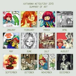 My Art Summary 2013 by Kaos-Felida
