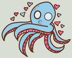 Octopus Love by sebarus