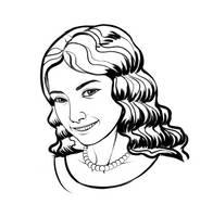 Sketch: Anastasia by BlackDeathman