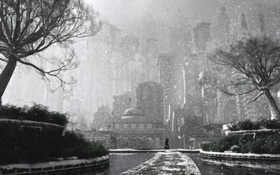 Gotham Garden (Winter) by dblasphemy