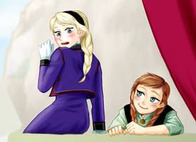 Frozen Elsa and Anna by TDYTG
