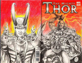 Thor cover sketch by ayk66
