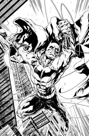 Batman Pin-up sample by Xermanico