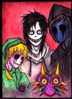 A Creepy family by Sombrero-de-Copa