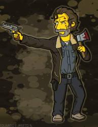 Rick Grimes (Simpson Style) by TheWalkerPrieton