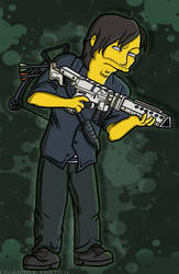 Daryl Dixon (Simpson Style) by TheWalkerPrieton