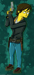 Maggie Greene (Simpson Style) by TheWalkerPrieton