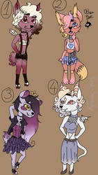 RANDOM ADOPTS //2\4OPEN// by Pink-Sanity