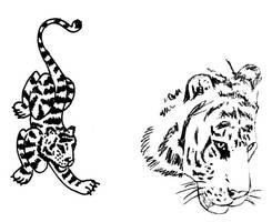 Ideas para Tatuaje de Tigre by Bufoland