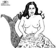 Paula La Sirena blanco y negro by Bufoland