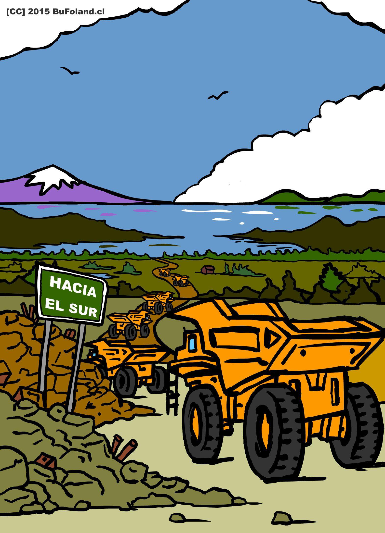Ilustracion para la portada de Ecos del Sur No 4 by Bufoland