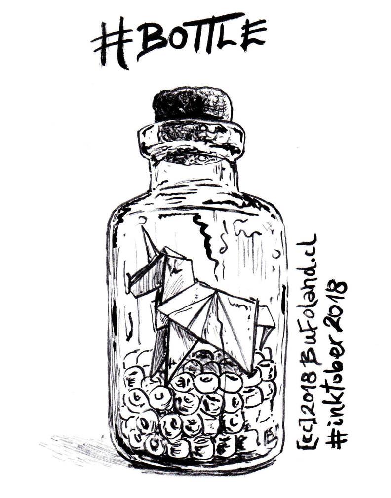 Bottle - Botella by Bufoland