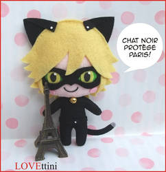 Miraculous Ladybug and Chat Noir plush by LOVEttini
