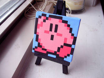 Pixel Painting Kirby by Moppy