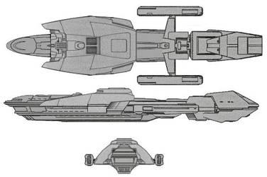 Zashal Class VII light cruiser by MorganDonovan