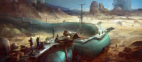 Pipe fortress by Rahmatozz