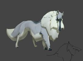 Dire wolf by Rahmatozz