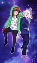 Dorky Siblings by kaminekoshi