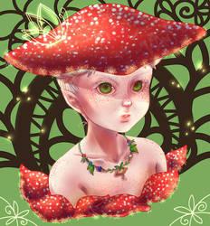 Mushroom Elf by kaminekoshi