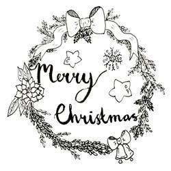 Ink Work Christmas Wreath by snowsparklegems