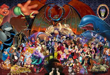 Disney Villains Wallpaper by disneyfreak19