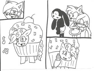 Pinkie Pie and Cupcakes by cmara