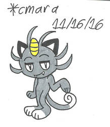 Alola Meowth by cmara