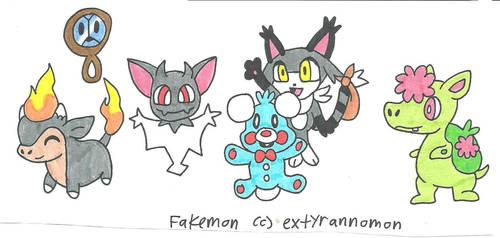 My Fakemon team by cmara