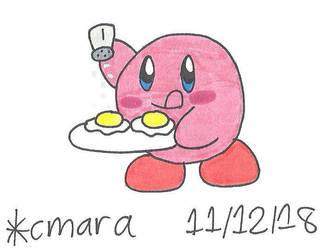 Kirby puts salt on his eggs by cmara