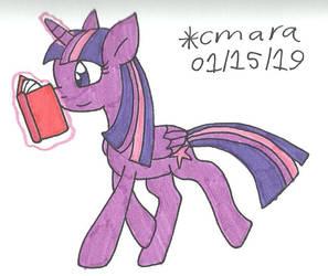 Twilight loves to read by cmara