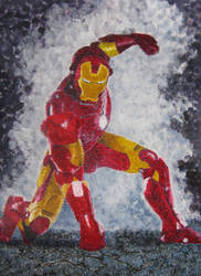 Iron Man Pointillism by ares69