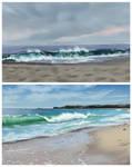 beach speedpaints by 5-prime