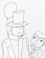 Professor Layton and Lukas by kuhu