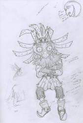 Skull Kid Unclean Sketch by kuhu