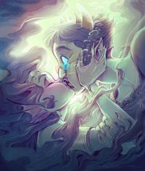Underwater kiss by pupukachoo
