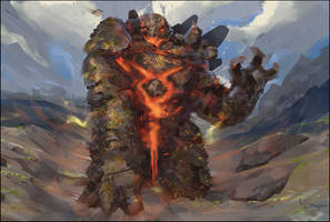 Lava Golem by Marcsampson