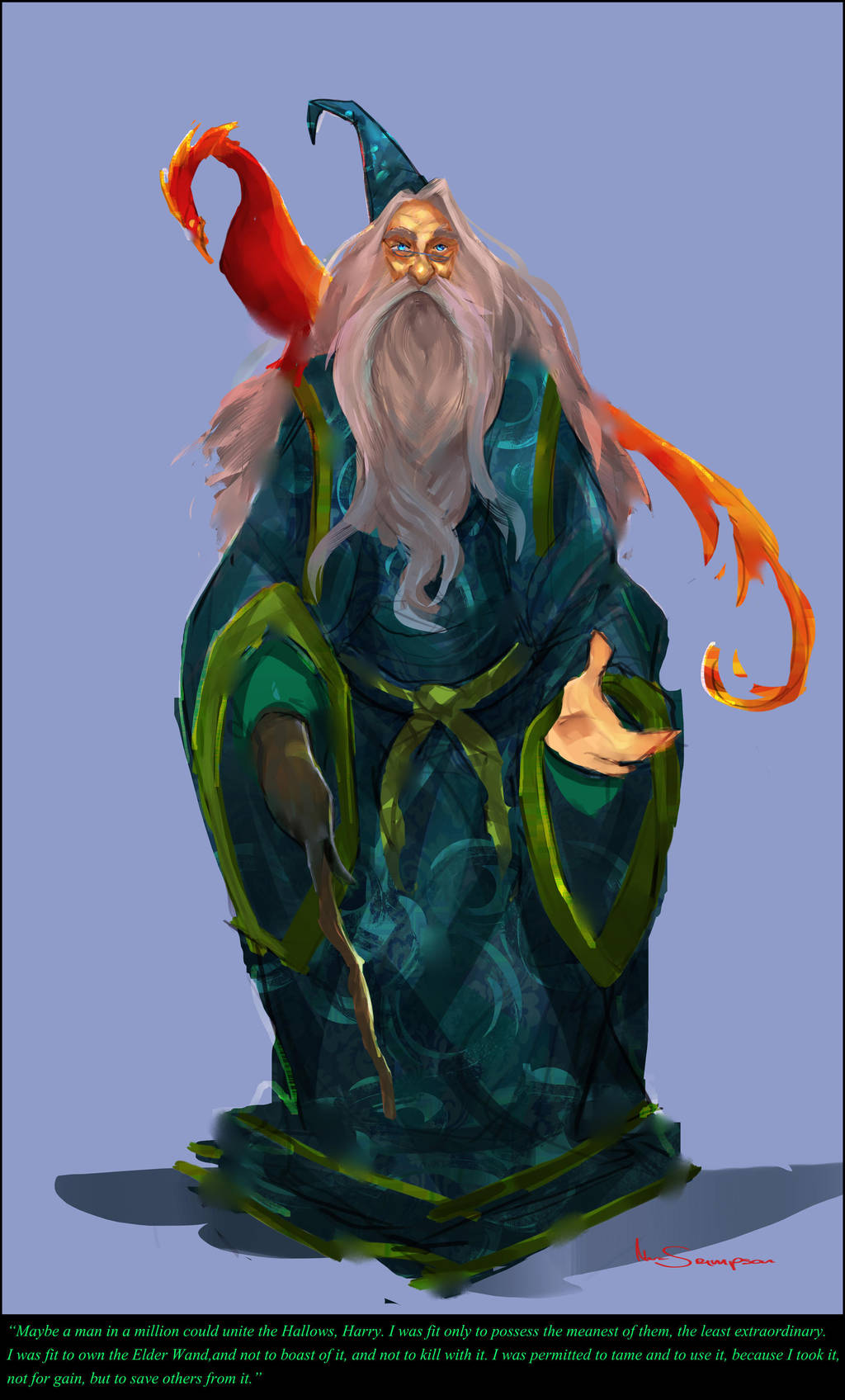 dumbledore fanart by Marcsampson