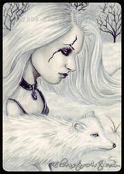 ACEO -- Black Winter Day by ElvenstarArt